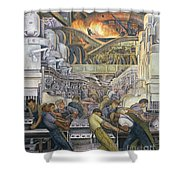Detroit Industry  North Wall Shower Curtain by Diego Rivera