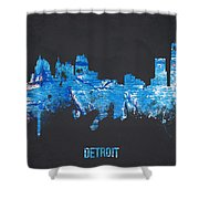 Detroit Michigan Usa Shower Curtain by Aged Pixel
