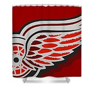 Detroit Red Wings Shower Curtain by Tony Rubino