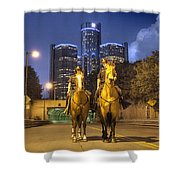 Detroit's Finest Detroit MI Shower Curtain by B And G Art