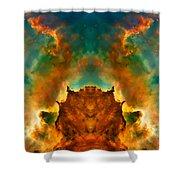 Devil Nebula Shower Curtain by The  Vault - Jennifer Rondinelli Reilly