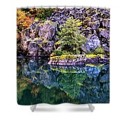 Diablo Lake Reflection Shower Curtain by Benjamin Yeager