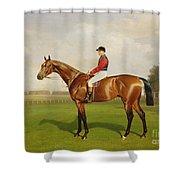 Diamond Jubilee Winner Of The 1900 Derby Shower Curtain by Emil Adam