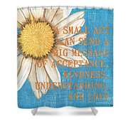 Dictionary Florals 4 Shower Curtain by Debbie DeWitt