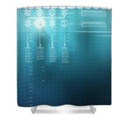 Digital Display  Shower Curtain by Carlos Caetano