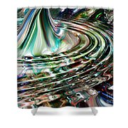 Digital liquid Shower Curtain by Cheryl Young