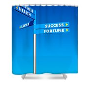Directions To Goals Shower Curtain by Carlos Caetano