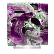 Diving Into Your Ocean 2 Shower Curtain by Angelina Vick