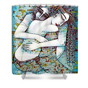 Do Not Leave Me Shower Curtain by Albena Vatcheva