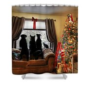 Do You Hear What I Hear Shower Curtain by Lori Deiter