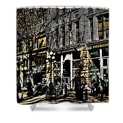 Doc Maynards And The Underground Tour - Seattle Washington Shower Curtain by David Patterson