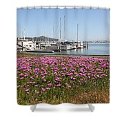 Docks at Sausalito California 5D22695 Shower Curtain by Wingsdomain Art and Photography