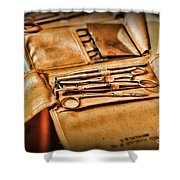 Doctor -  Medical Field Kit Shower Curtain by Paul Ward