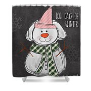 Dog Days  Shower Curtain by Linda Woods