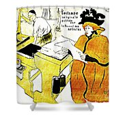 Domain-le Stamp Shower Curtain by Doc Braham