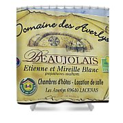 Domaine Des Averlys Shower Curtain by Allen Sheffield