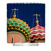 Domes Of Vasily The Blessed Cathedral - Feature 3 Shower Curtain by Alexander Senin