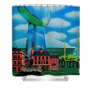 Doomsday Domination Shower Curtain by Benjamin Yeager