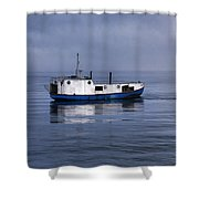 Door County Gills Rock Trawler Shower Curtain by Christopher Arndt