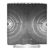 Doppler Effect Parallel Universes Shower Curtain by Jason Padgett