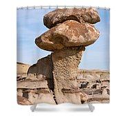 Double Caprock Shower Curtain by Vivian Christopher