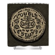 Double Stuff Oreo In Sepia Negitive Shower Curtain by Rob Hans