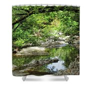 Down By The Creek Shower Curtain by Donna Blackhall