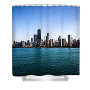 Downtown City Buildings In The Chicago Skyline Shower Curtain by Paul Velgos