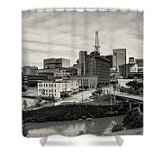 Downtown Houston From Uh-d Shower Curtain by Silvio Ligutti