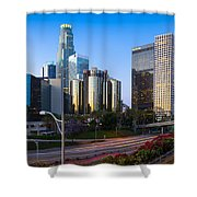 Downtown L.a. Shower Curtain by Inge Johnsson