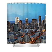 Downtown Los Angeles Shower Curtain by Kelley King