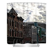 Downtown Nashville Shower Curtain by Dan Sproul