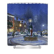 Downtown Woodstock Shower Curtain by Candace Lovely