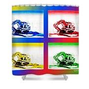 Dozer Mania IIi Shower Curtain by Kip DeVore