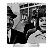 Dr And Mrs King Shower Curtain by Benjamin Yeager