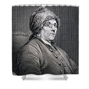 Dr Benjamin Franklin Shower Curtain by English School