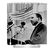 Dr Martin Luther King Jr Shower Curtain by Benjamin Yeager