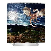 Dragon Night Shower Curtain by Methune Hively