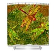 Dragonflies Abound Shower Curtain by Jack Zulli