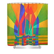 Dreamboat Shower Curtain by Tracey Harrington-Simpson