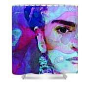 Dreaming Of Frida - Art By Sharon Cummings Shower Curtain by Sharon Cummings