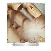 Dreams Of Flying Shower Curtain by Amy Weiss