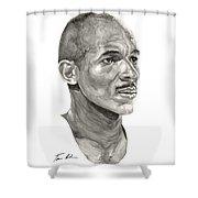 Drexler Shower Curtain by Tamir Barkan