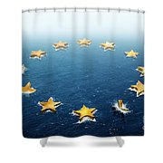 Drifting Europe Shower Curtain by Carlos Caetano