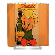 Drink Squirt Sign Shower Curtain by Thomas Woolworth