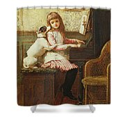 Drink To Me Only With Thine Eyes Shower Curtain by Charles Trevor Garland