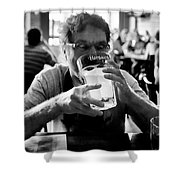 Drink Up Shower Curtain by Trever Miller
