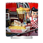 Drive-in Food Classic Shower Curtain by Carolyn Marshall
