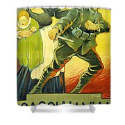 Drive Them Out Shower Curtain by Ugo Finozzi
