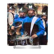 Drummers Shower Curtain by Susan Savad